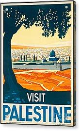 Vintage Palestine Travel Poster Acrylic Print