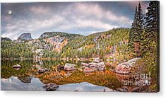 Vintage Panorama Of Bear Lake In The Fall - Rocky Mountain National Park Estes Park Colorado Acrylic Print