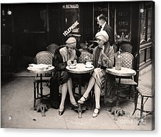 Vintage Paris Cafe Acrylic Print by Mindy Sommers