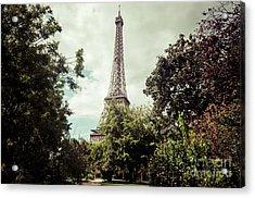 Vintage Paris Landscape Acrylic Print