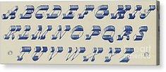 Vintage Perspective Italian Blue Font Acrylic Print