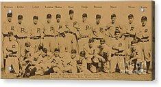 Vintage Philadelphia Phillies Baseball Card  Acrylic Print