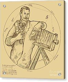 Vintage Photographer Video Camera Acrylic Print by Aloysius Patrimonio