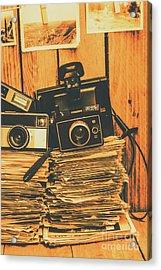 Vintage Photography Stack Acrylic Print