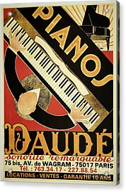 Vintage Piano Art Deco Acrylic Print by Mindy Sommers