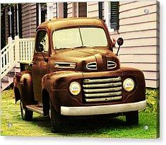 Vintage Pick Up Truck Acrylic Print