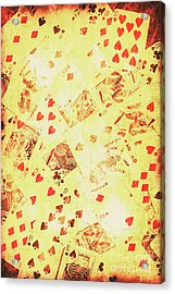 Vintage Poker Background Acrylic Print by Jorgo Photography - Wall Art Gallery