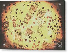 Vintage Poker Card Background Acrylic Print by Jorgo Photography - Wall Art Gallery