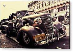Vintage Police Car Acrylic Print by Britten Adams