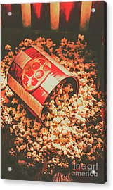 Vintage Popcorn Tin. Faded Films Still Life Acrylic Print by Jorgo Photography - Wall Art Gallery