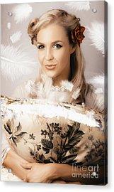 Vintage Portrait Of A Perfect Female Beauty Acrylic Print