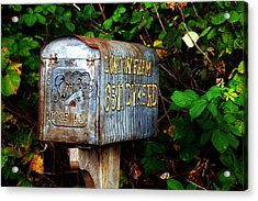 Vintage Postbox Acrylic Print by Ming Yeung