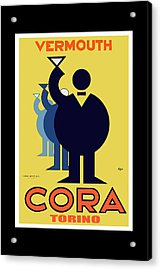 vintage poster Cora Vermouth Acrylic Print