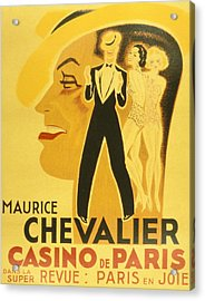 Vintage Poster Acrylic Print by French School