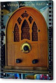 Vintage Cathedral Radio Acrylic Print