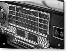 Vintage Radio B And W Acrylic Print