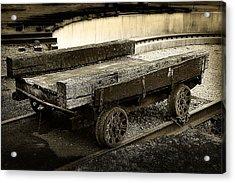Vintage Rail Cart Acrylic Print
