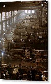 Vintage Railroad Locomotive Shop - 1942 Acrylic Print