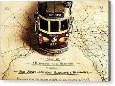 Vintage Railways And Tramways Acrylic Print