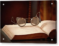 Vintage Reading Glasses  Acrylic Print by Maria Angelica Maira