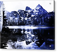 Vintage Reflection Lake  With Ripples Early 1900 Era... Acrylic Print
