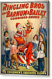 Vintage Ringling Brothers And Barnum And Bailey Combined Circus Acrylic Print