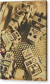 Vintage Robot Charging Zone Acrylic Print