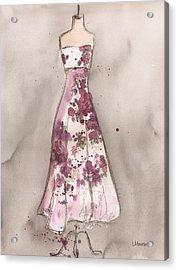 Vintage Romance Dress Acrylic Print