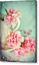 Vintage Romantic Peonies Acrylic Print