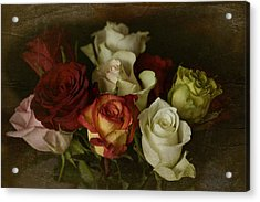 Acrylic Print featuring the photograph Vintage Roses Feb 2017 by Richard Cummings