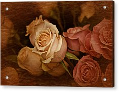 Acrylic Print featuring the photograph Vintage Roses March 2017 by Richard Cummings