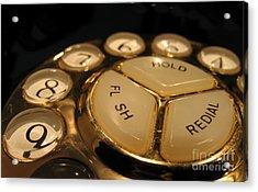 Vintage Rotary Dial Phone Acrylic Print by Yali Shi
