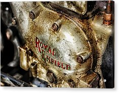 Vintage Royal Enfield Acrylic Print by Olaf Pictures