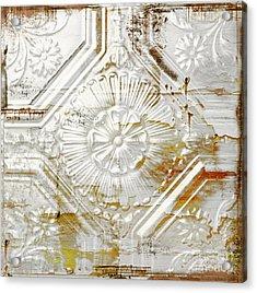 Vintage Rusty Tin Ceiling Tile Acrylic Print