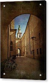 Acrylic Print featuring the photograph Vintage Salzburg by Carol Japp