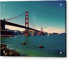 Vintage San Francisco Acrylic Print by Niels Nielsen