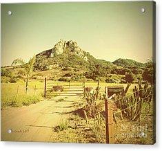 Vintage San Luis Obispo California Seven Sisters  Acrylic Print