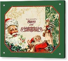 Vintage Santa Claus - Glittering Christmas 3 Acrylic Print