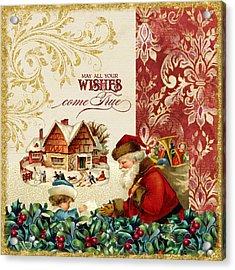 Vintage Santa Claus - Glittering Christmas 4 Acrylic Print
