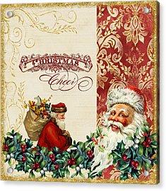 Vintage Santa Claus - Glittering Christmas 5 Acrylic Print