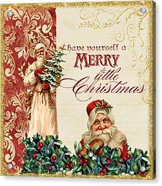 Vintage Santa Claus - Glittering Christmas Acrylic Print