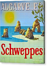 Vintage Schweppes Algarve Mosaic Acrylic Print by Angelo DeVal