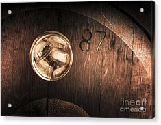 Vintage Scotch Whisky On Wooden Tabletop Acrylic Print by Jorgo Photography - Wall Art Gallery