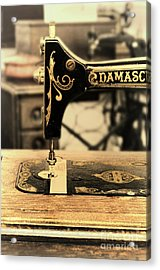 Acrylic Print featuring the photograph Vintage Sewing Machine by Jill Battaglia