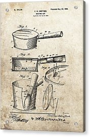 Vintage Shaving Cup Patent Acrylic Print by Dan Sproul