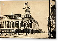 Vintage Shibe Park In Sepia Acrylic Print by Bill Cannon