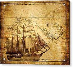 Vintage Ship Map Acrylic Print