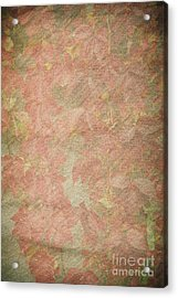 Vintage Silk Cotton Leaves Texture Acrylic Print