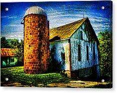 Vintage Silo Acrylic Print