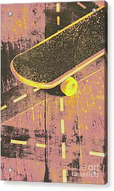 Vintage Skateboard Ruling The Road Acrylic Print